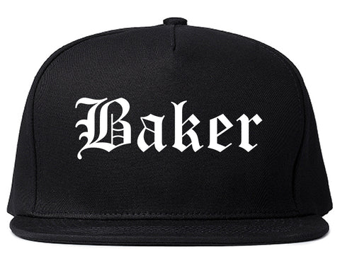 Baker Louisiana LA Old English Mens Snapback Hat Black