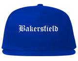 Bakersfield California CA Old English Mens Snapback Hat Royal Blue