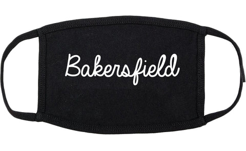 Bakersfield California CA Script Cotton Face Mask Black