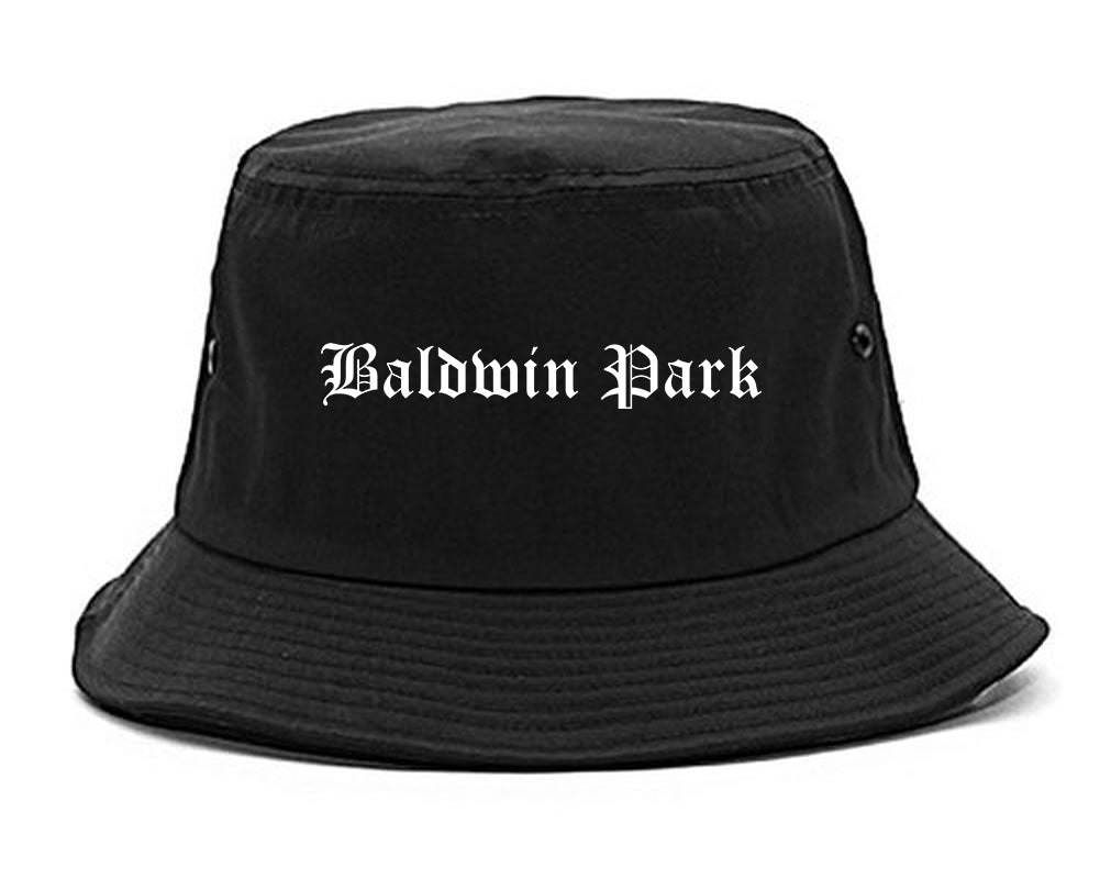Baldwin Park California CA Old English Mens Bucket Hat Black