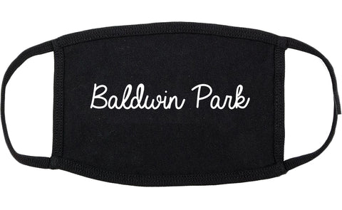 Baldwin Park California CA Script Cotton Face Mask Black