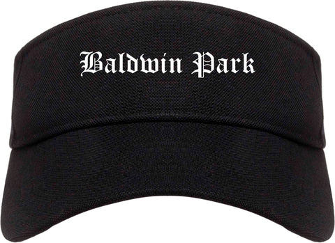Baldwin Park California CA Old English Mens Visor Cap Hat Black