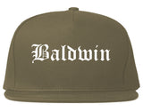 Baldwin Pennsylvania PA Old English Mens Snapback Hat Grey