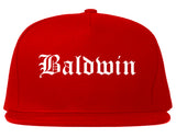 Baldwin Pennsylvania PA Old English Mens Snapback Hat Red