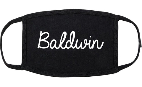Baldwin Pennsylvania PA Script Cotton Face Mask Black