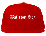 Ballston Spa New York NY Old English Mens Snapback Hat Red