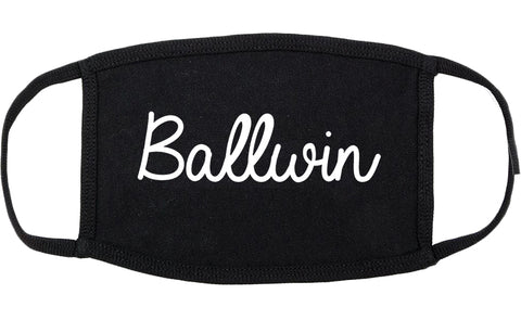 Ballwin Missouri MO Script Cotton Face Mask Black