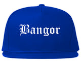 Bangor Maine ME Old English Mens Snapback Hat Royal Blue