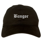 Bangor Maine ME Old English Mens Dad Hat Baseball Cap Black