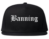 Banning California CA Old English Mens Snapback Hat Black