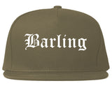 Barling Arkansas AR Old English Mens Snapback Hat Grey