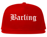Barling Arkansas AR Old English Mens Snapback Hat Red