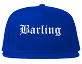 Barling Arkansas AR Old English Mens Snapback Hat Royal Blue