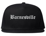 Barnesville Georgia GA Old English Mens Snapback Hat Black
