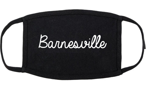 Barnesville Georgia GA Script Cotton Face Mask Black