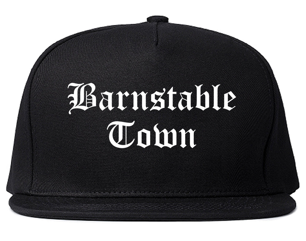 Barnstable Town Massachusetts MA Old English Mens Snapback Hat Black