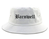 Barnwell South Carolina SC Old English Mens Bucket Hat White