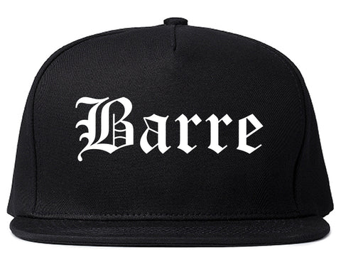 Barre Vermont VT Old English Mens Snapback Hat Black