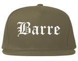 Barre Vermont VT Old English Mens Snapback Hat Grey