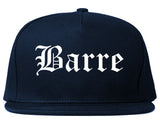 Barre Vermont VT Old English Mens Snapback Hat Navy Blue