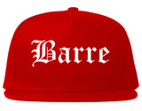 Barre Vermont VT Old English Mens Snapback Hat Red