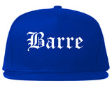 Barre Vermont VT Old English Mens Snapback Hat Royal Blue