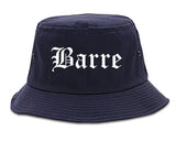 Barre Vermont VT Old English Mens Bucket Hat Navy Blue
