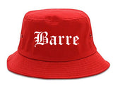Barre Vermont VT Old English Mens Bucket Hat Red
