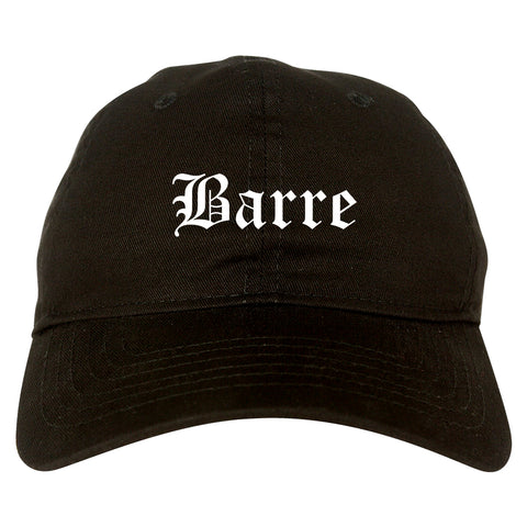 Barre Vermont VT Old English Mens Dad Hat Baseball Cap Black