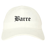 Barre Vermont VT Old English Mens Dad Hat Baseball Cap White