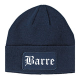 Barre Vermont VT Old English Mens Knit Beanie Hat Cap Navy Blue