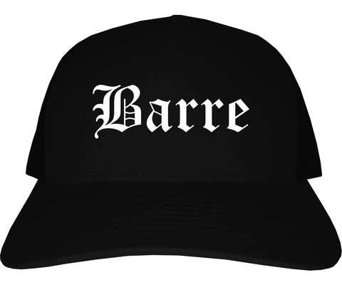 Barre Vermont VT Old English Mens Trucker Hat Cap Black