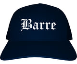 Barre Vermont VT Old English Mens Trucker Hat Cap Navy Blue