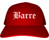 Barre Vermont VT Old English Mens Trucker Hat Cap Red