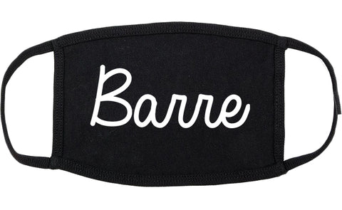 Barre Vermont VT Script Cotton Face Mask Black