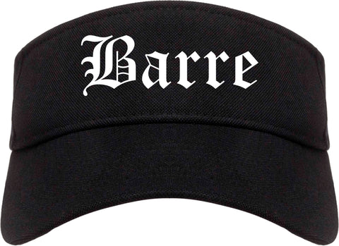 Barre Vermont VT Old English Mens Visor Cap Hat Black