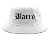 Barre Vermont VT Old English Mens Bucket Hat White