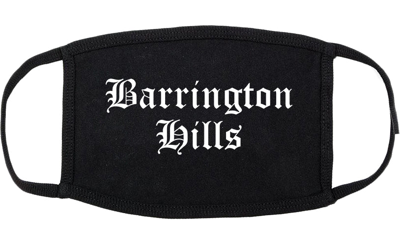 Barrington Hills Illinois IL Old English Cotton Face Mask Black
