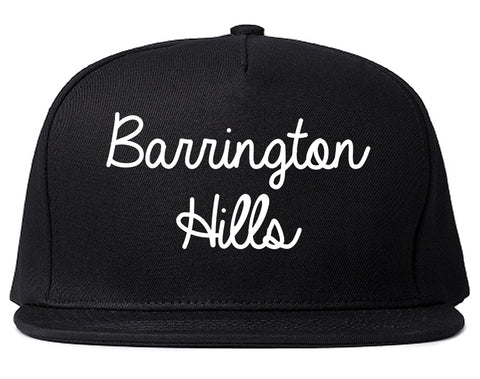 Barrington Hills Illinois IL Script Mens Snapback Hat Black