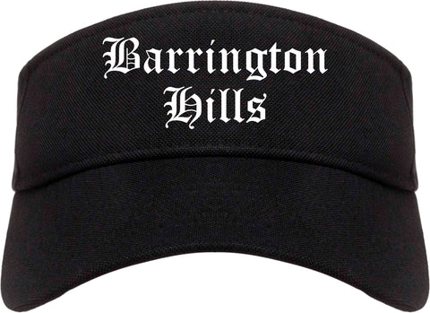 Barrington Hills Illinois IL Old English Mens Visor Cap Hat Black