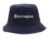Barrington Illinois IL Old English Mens Bucket Hat Navy Blue