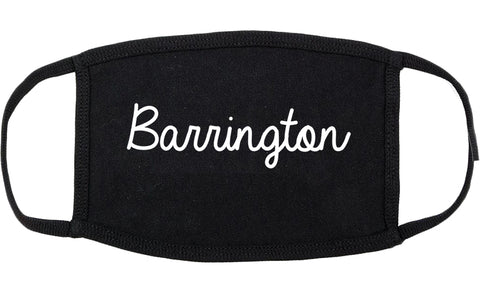 Barrington New Jersey NJ Script Cotton Face Mask Black