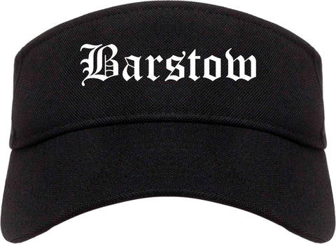 Barstow California CA Old English Mens Visor Cap Hat Black