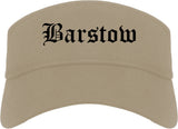 Barstow California CA Old English Mens Visor Cap Hat Khaki