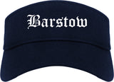 Barstow California CA Old English Mens Visor Cap Hat Navy Blue