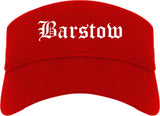 Barstow California CA Old English Mens Visor Cap Hat Red