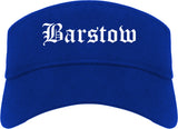 Barstow California CA Old English Mens Visor Cap Hat Royal Blue