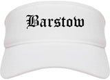 Barstow California CA Old English Mens Visor Cap Hat White