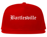 Bartlesville Oklahoma OK Old English Mens Snapback Hat Red
