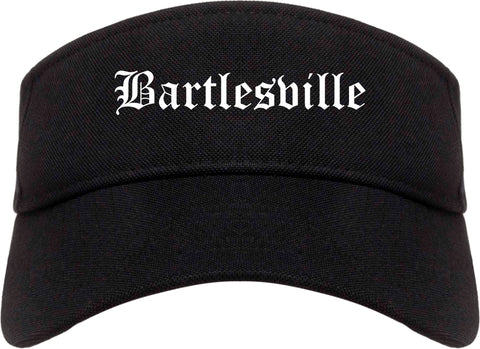 Bartlesville Oklahoma OK Old English Mens Visor Cap Hat Black